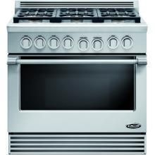 DCS Professional 36-Inch 6-Burner Propane Gas Range By Fisher Paykel - RGV-366-L