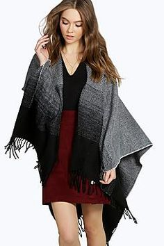 Abbey Monochrome Cape With Tassels