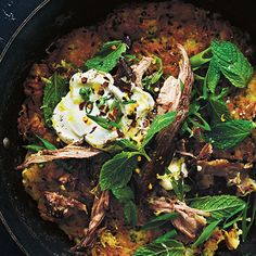 Try this Crunchy Potato Rostis with Pulled Lamb, Yoghurt and Mint recipe by Chef Donna Hay. This recipe is from the show Donna Hay: Basics To Brilliance.