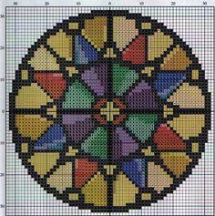 Mandala perler bead pattern