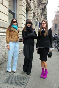 Viviana Volpicella, Aurora Sansone and Anna Dello Russo