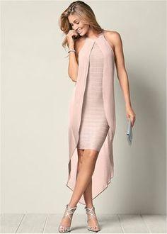Bandage Dress in Light Pink Women's Dresses, Women's Fashion Dresses, Elegant Dresses, Beautiful Dresses, Evening Dresses, Awesome Dresses, Summer Dresses, Satin Dresses, Pretty Dresses