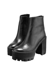 leather boots,ankle boots,platform boots