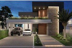 Bungalow House Design, House Front Design, Minimalist House Design, Modern House Design, Home Building Design, Building A House, Facade Design, Exterior Design, Modern House Plans