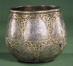 Silver Cup 700 AD found at Fejø, Denmark