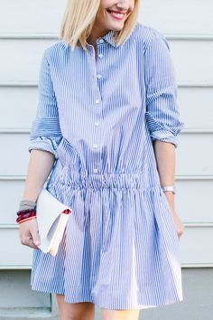 38 Summer Casual Outfits Trending Now - Fashion New Trends Casual Summer Outfits, Chic Outfits, Casual Dresses, Trending Now Fashion, Trending Outfits, Look Urban Chic, Modest Fashion, Fashion Dresses, Striped Shirt Dress