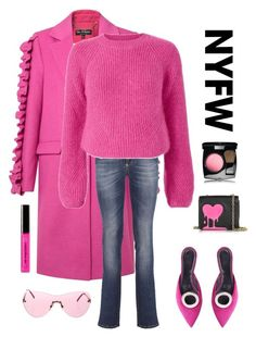 """""""FABULOUS in Pink"""" by kotnourka ❤ liked on Polyvore featuring Miss Selfridge, Philipp Plein, Intermix, Proenza Schouler, Love Moschino, Chanel, Bobbi Brown Cosmetics, contestentry and NYFWHotPink"""