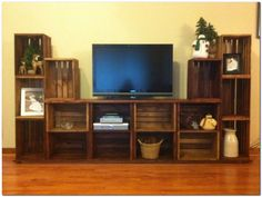 Diy home entertainment centers entertainment center ideas entertainment center ideas and designs for your new home . diy home entertainment centers Home Entertainment Centers, Entertainment Stand, Bookshelf Entertainment Center, Creative Storage, Storage Ideas, Small Storage, Diy Home Decor, Room Decor, Home And Deco