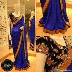 Navy blue saree....