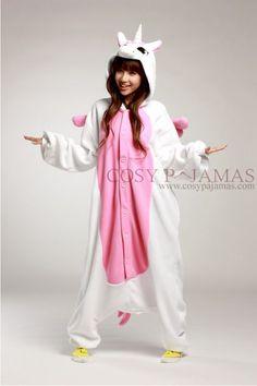 pink unicorn animal pajama for girls.