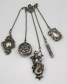 American sterling silver chatelaine