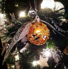 This magical Golden Snitch.   21 DIY Ornaments That'll Take Your Tree To The Next Level