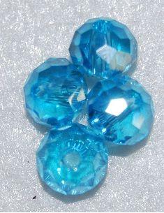 Rondel 6x4 mm Cristal Con efecto Azul