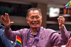George Takei beams at front of Seattle pride march on Sunday, June 29, 2014.