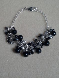 Black & Silver Charm Bracelet