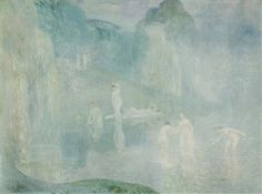 Nymphs by the lake - Nymphes au bord de l'étang By Constant Montald ,1912