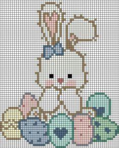 Cross Stitch Cards, Cross Stitch Baby, Cross Stitch Animals, Counted Cross Stitch Patterns, Cross Stitch Designs, Cross Stitching, Cross Stitch Embroidery, Pixel Art, Easter Cross