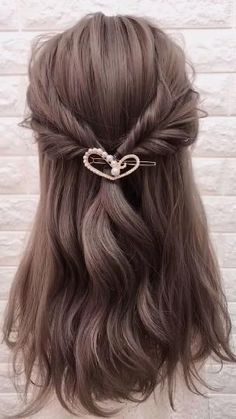 Casual Hairstyles For Long Hair, Easy Hairstyles For Long Hair, Girl Hairstyles, Natural Hairstyles, Medium Length Hairstyles, Party Hairstyles For Girls, Hairstyles For Medium Length Hair Easy, Summer Hairstyles For Medium Hair, Easy Hairstyle Video