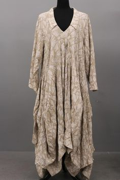 TRANSPARENTE DESIGNS GERMANY LAGENLOOK ARTSY COTTON ASYM SIDE OUT DRESS $650 #TRANSPARENTE #Casual