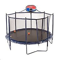 Cheap Trampoline With Basketball Hoop | JumpSport Elite Basketball Trampoline Package, 14-Feet