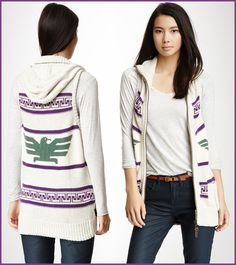 Thunderbird Sweater / Cardigan - love this for Fall and Winter!
