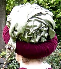 How to make a Regency turban (I actually use a buckram circlet frame instead of the padding shown here - but same idea)