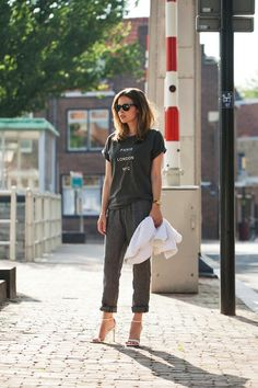 Class up sweats with high heels | Fash n Chips for The Vogue Blog Network