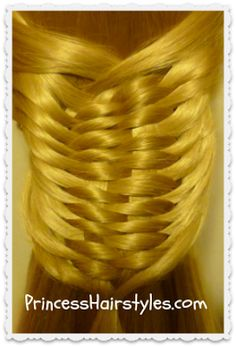Layered Woven Braid Tutorial & Updo Hairstyle - Princess Hairstyles | Braids and Hair Style tutorials