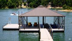 Hip Roof Covered Boat Docks - H5