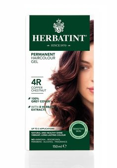 Herbatint Italian Herbal Hair Color Gel w/ Gray Coverage - Copper Chesnut 4R ** Click on the image for additional details.