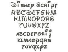 Mickey and minnie mouse font, Walt Disney Font Alphabet