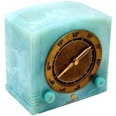 Modernism Gallery - Kadette Radio Corporation - Rare Pale Turquoise Blue Kadette Catalin American Art Deco Radio - 1stdibs