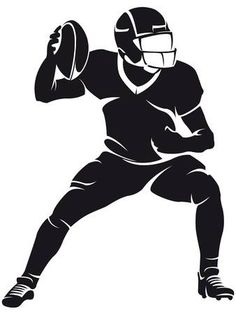 Vector Illustration of American football player, silhouette vector art, clipart and stock vectors. Image of American football player, silhouette vector art, clipart and stock vectors. Football Design, Football Art, Football Shirts, Alabama Football, Clemson, Football Silhouette, Theme Sport, Sport Cuts, Vignettes