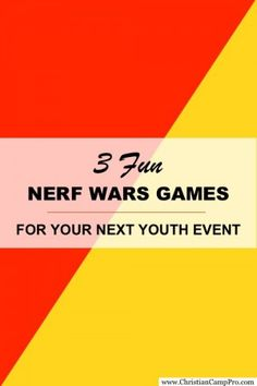 http://christiancamppro.com/3-fun-nerf-wars-games-3-is-my-favorite/ - NERF WARS GAMES - Here are a few games that are perfect for a great day of Nerf Wars with fellow campers.