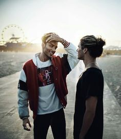 Toni Mahfud & Jay Alvarez #LA #CK2 #inspiration #summer #men #hair #beach Pinterest: Junior D-Martin