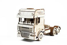 wooden constructor toy Trailer Truck Is Mechanical 3D Puzzle