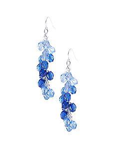 Kim Rogers® Blue Tonal Glass Pierced Earrings