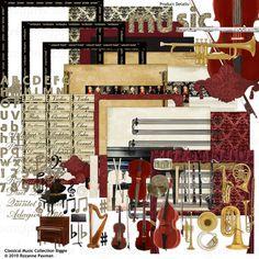 Classical Music Collection Biggie - a digital scrapbooking kit - designed by Rozanne Paxman, ScrapGirls.com