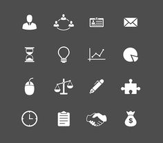 Business Icons Set by snipergraphics on @creativemarket
