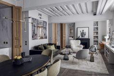 Parisian apartment in gray by double g interior design Parisian Apartment, Attic Apartment, Paris Apartments, Apartment Design, York Apartment, Riverside House, Paris Home, Lofts, Slam Dunk