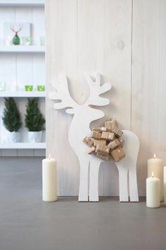 Decoración navideña para 2014-2015. Renos de madera o papel en nuestra casa.