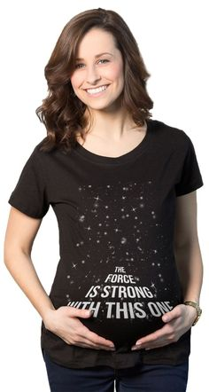 The Force Is Strong With This One Maternity   CrazyDog T-shirts