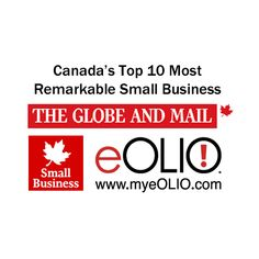 Globe and Mail recognized us as one of the Top 10 Most Remarkable Small Businesses in Canada - September 12, 2014