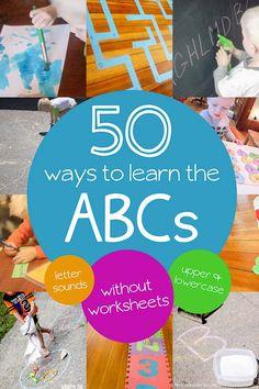 50 Incredible Alphabet Activities for Preschoolers