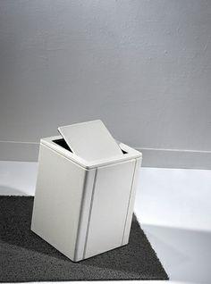 Loft & Bath® Blanc > Accessoires Cuir Blanc > Poubelle en cuir (sans couvercle)
