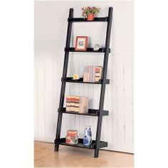 Blairstown Bookshelf - Coaster 5049 Bookshelf by Coaster Home Furnishings. $219.53. Some assembly may be required. Please see product details.. TheBlairstown Bookshelf by Coasterwill give your living room a bit of contemporary flair. With a skeleton frame design and slanted, ladder-style, this bookshelf offers plenty of display space while looking great.This ladder bookshelfis designed to match the Blairstown TV stand. This modern bookshelf ships at no additional charge. ...