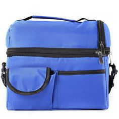 VINLAN Oxford Cloth Lunch Bag Insulated Tote Box Adjustable Shoulder Strap Travel Picnic Carry Bag (Dark Blue) -- Awesome products selected by Anna Churchill