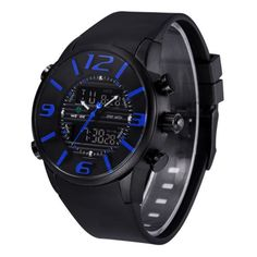 Only US$21.99 , shop WEIDE WH3402 Fashion Dual Display Men Watch Muti-function PU Strap Sport Watch at Banggood.com. Buy fashion Dual Display Watches online.