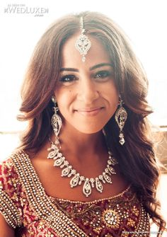 "WedLuxe: beautiful bride at her ""Indian-Egyptian"" wedding captured by Joel Bedford Photography"