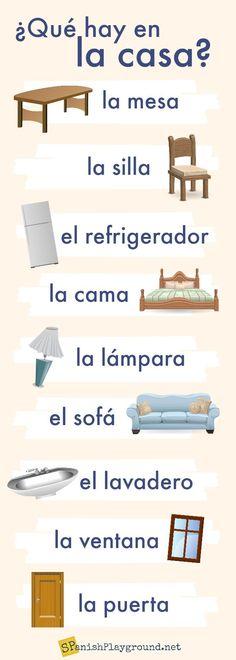 Spanish House Vocabulary Activities for Kids - Spanish Playground